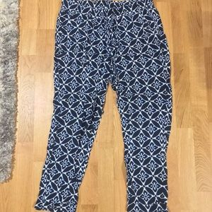 Old navy printed linen pants